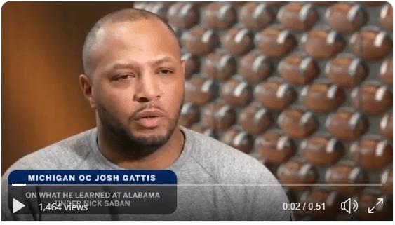 Josh Gattis on What He Learned in Alabama Under Nick Saban (Twitter)