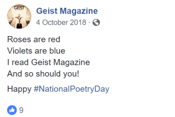 Geist Facebook Poetry