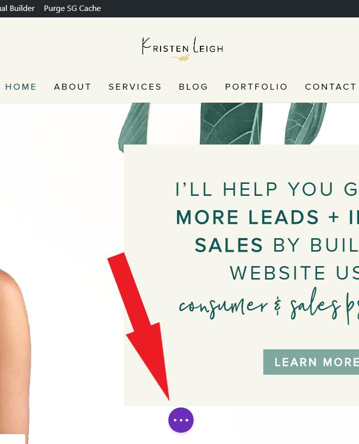 Kristen Leigh   Web Design Studio   How to Quickly Build a Divi Website   Menu