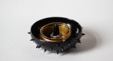 piky black ring holder by olis cupboard on etsy