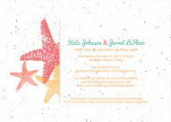 Starfish Wedding Invitation designed by Kristen Lourie co Botanical Paperworks