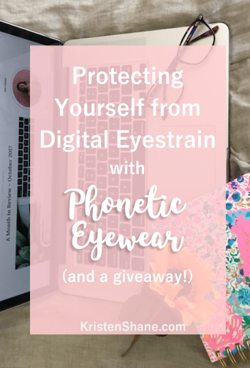Protecting Yourself From Digital Eyestrain with Phonetic Eyewear | KristenShane.com