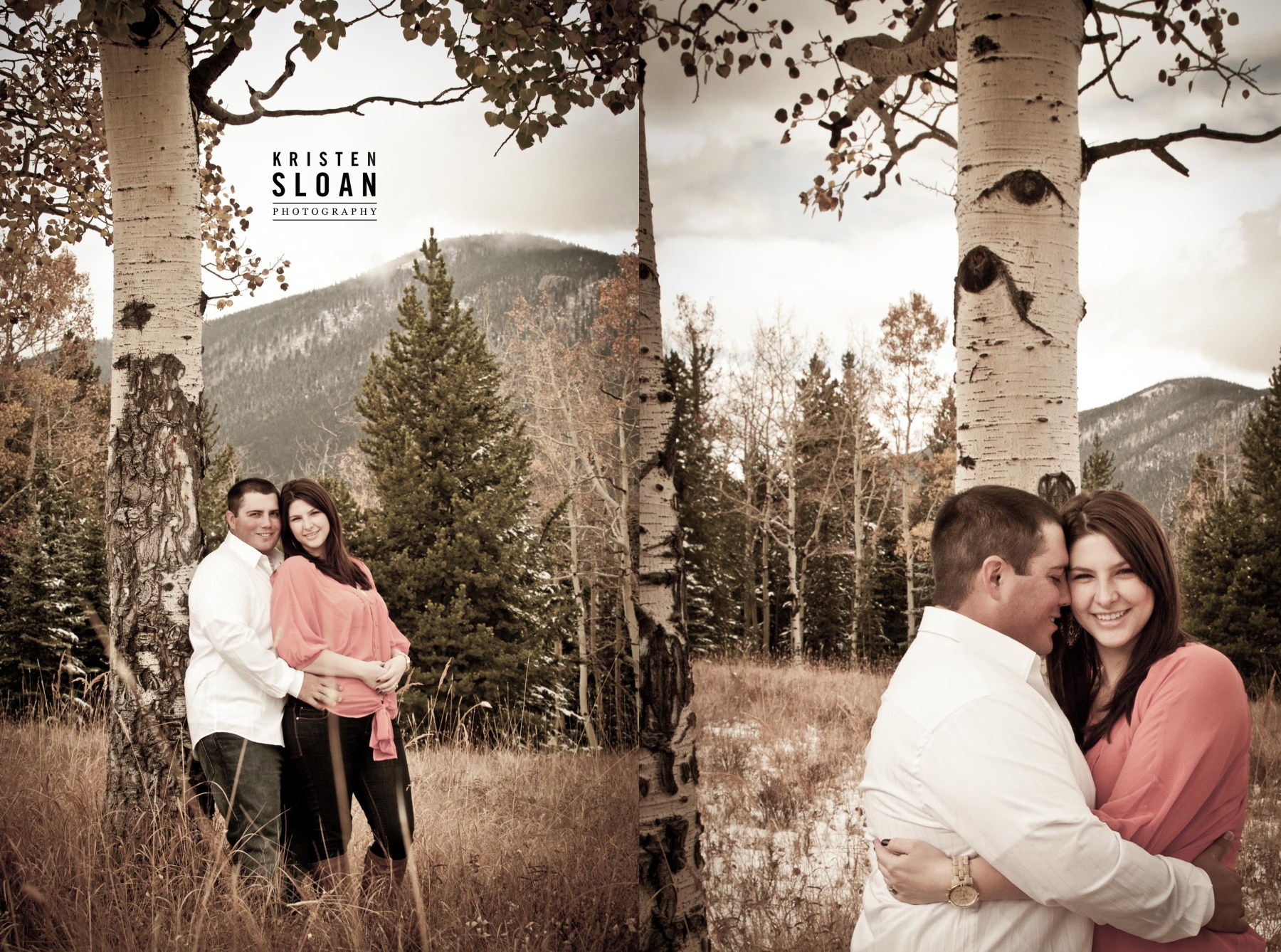 aspen field engagement portraits