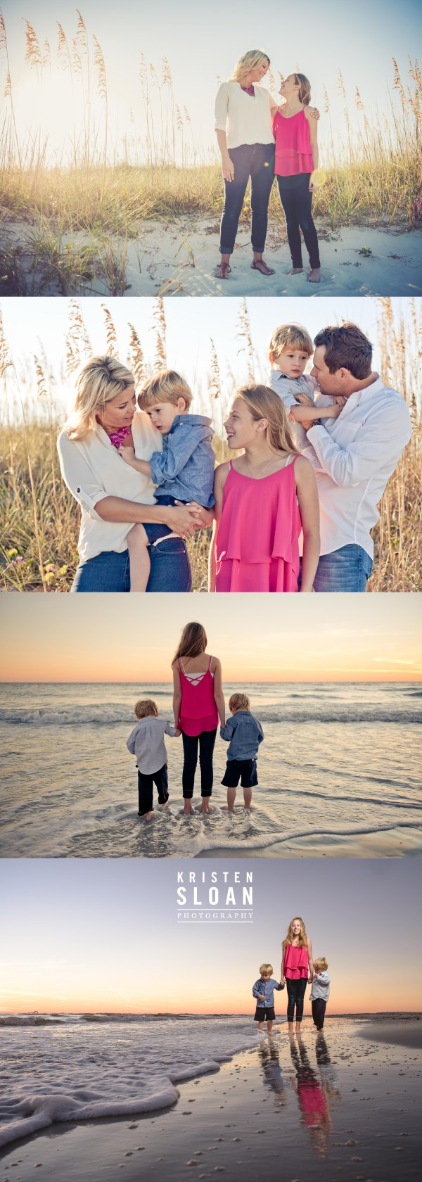 TradeWinds Island Resort Family Beach Portraits by St Pete FL Photographer Kristen Sloan