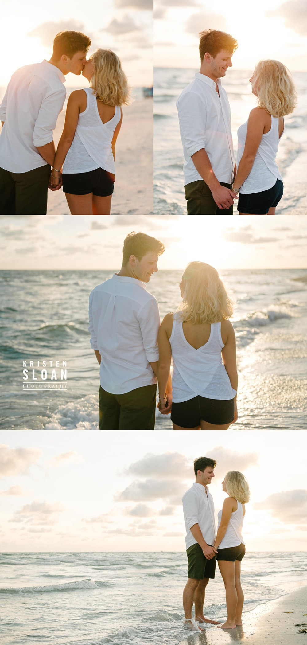 Clear Blue Skies in Treasure Island Beach Couples Portrait Session Kristen Sloan Photography