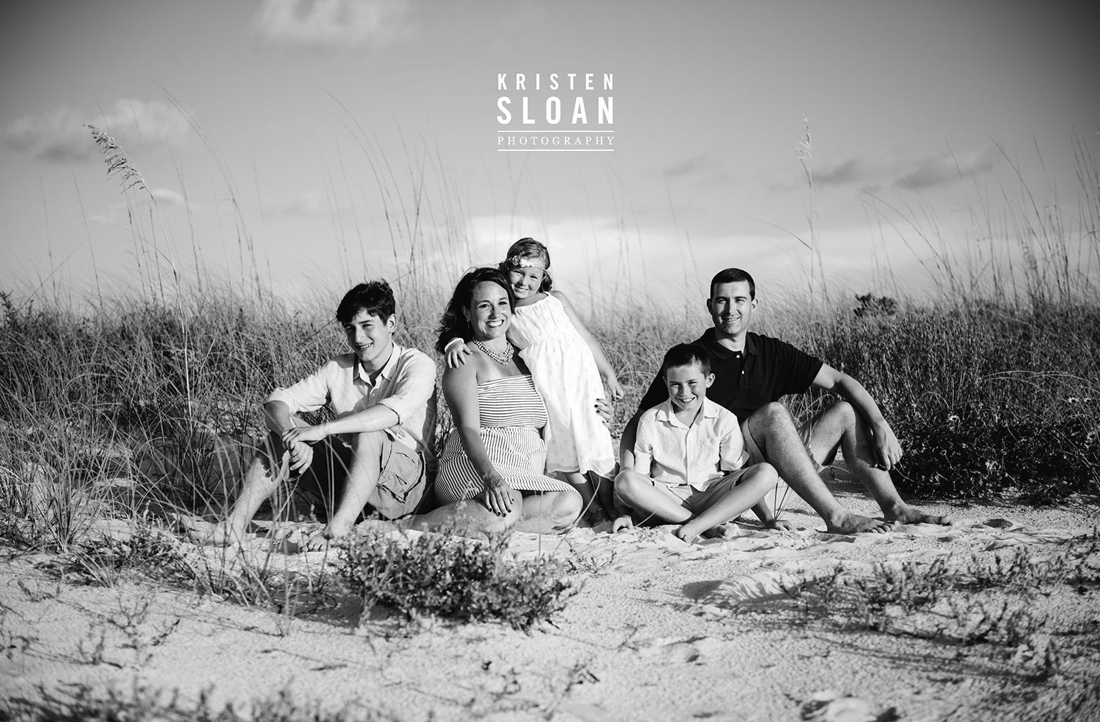 Sunset Vistas Family Beach Portraits in Treasure Island by Kristen Sloan