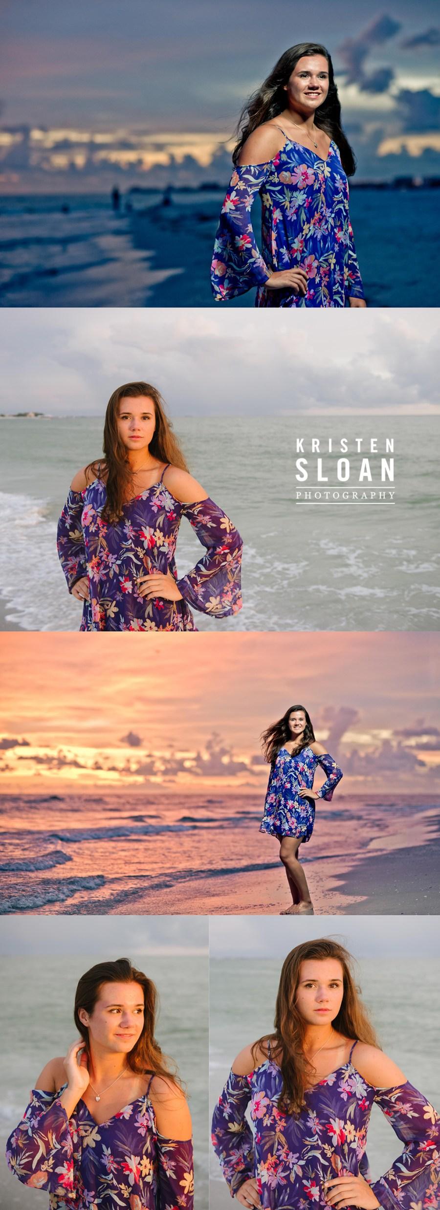 Sunset Senior Portraits at Treasure Island FL by Kristen Sloan