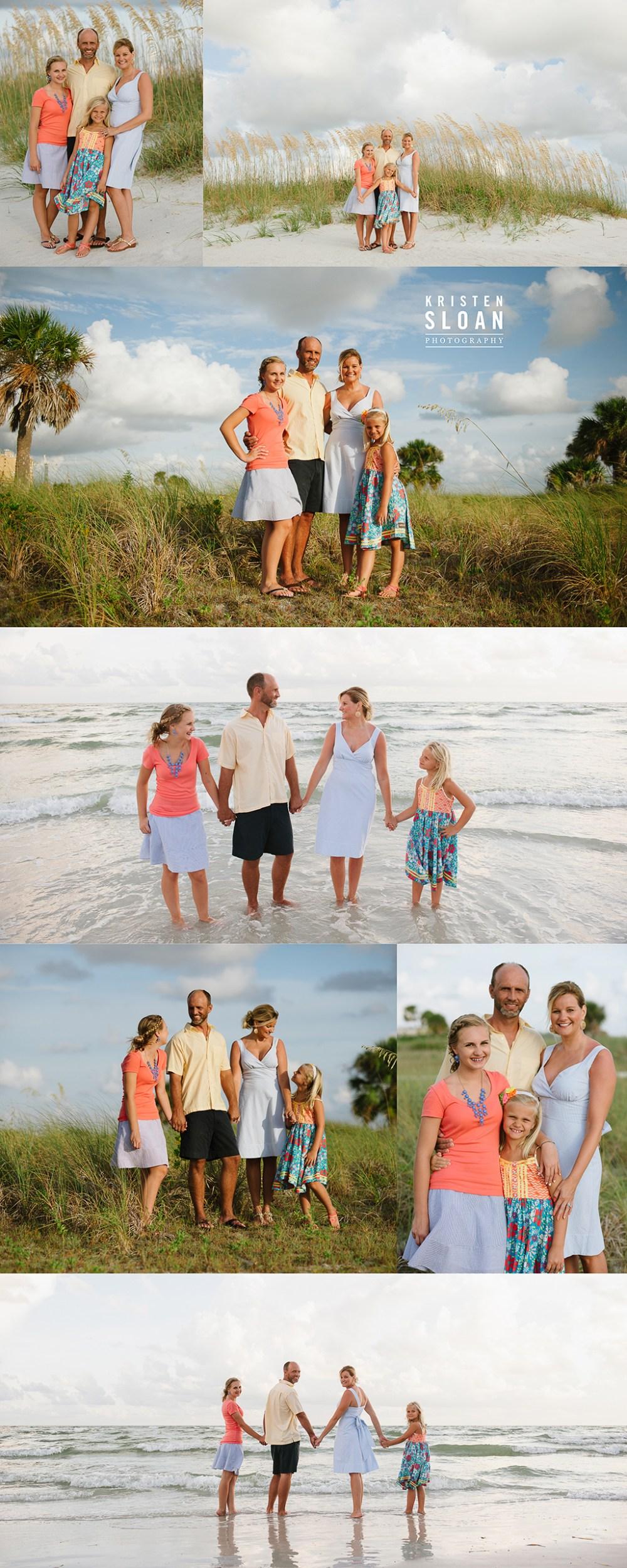 Treasure Island Florida Family Beach Sunset Photos by Kristen Sloan Photo