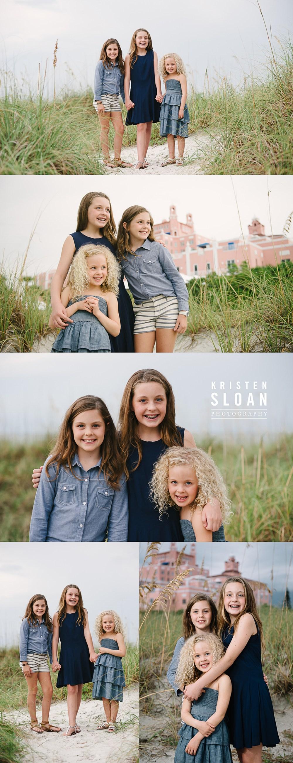 Loews Don Cesar Hotel Family Kids Couples Beach Portrait Photos by Kristen Sloan Photography | St Pete Beach FL Photographer | Pass A Grille Beach FL Photographer