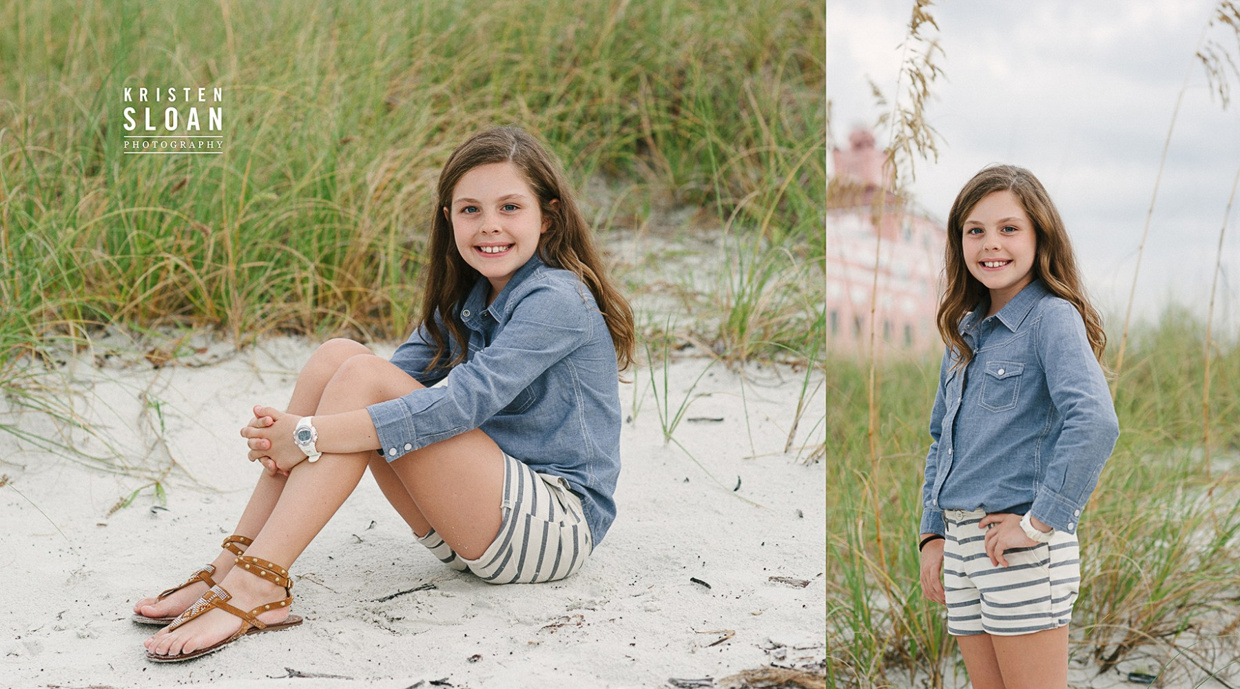 Loews Don Cesar Hotel Family Kids Beach Portrait Photos by Kristen Sloan Photography