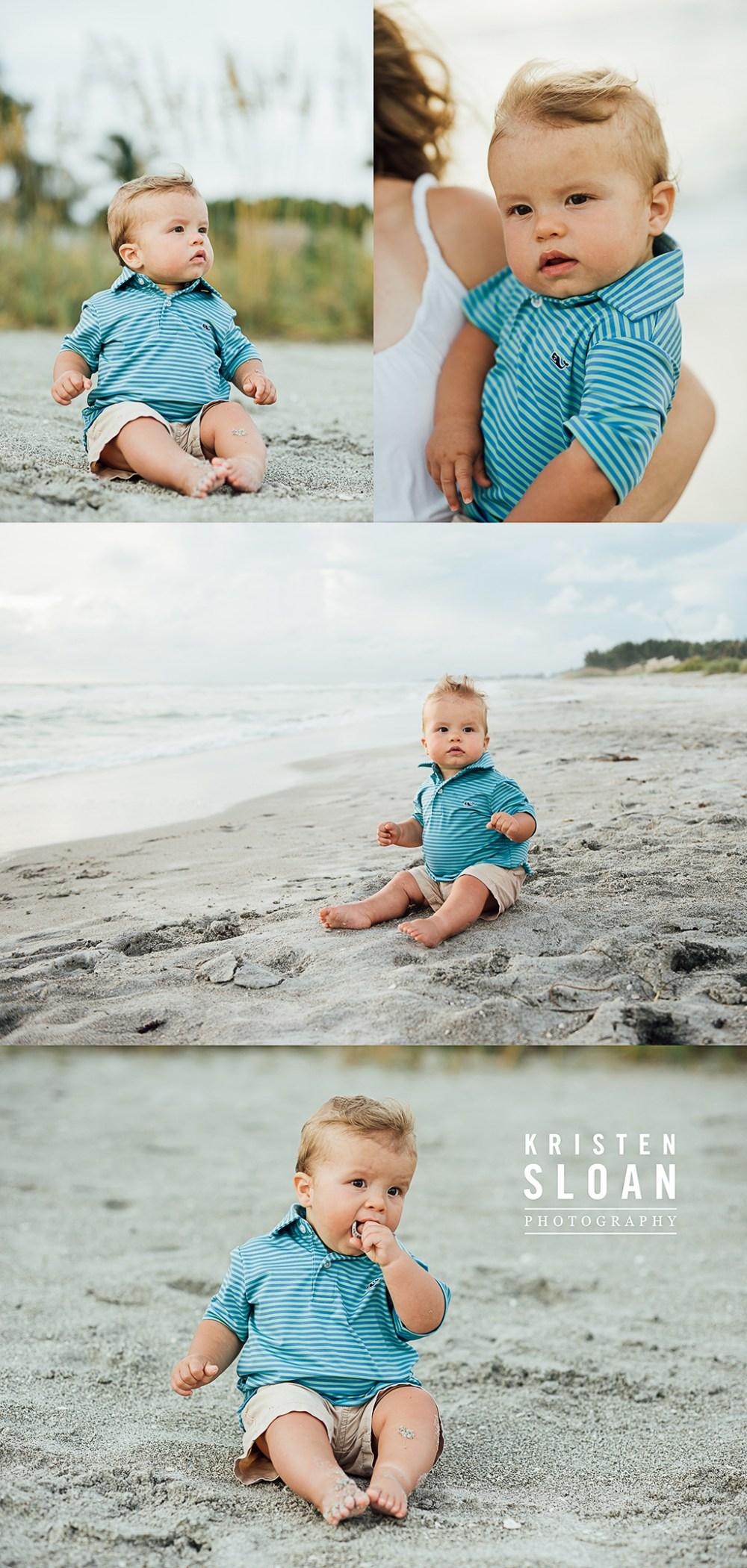 Longboat Key Kids Family Baby Beach Portrait Photos at Sunset