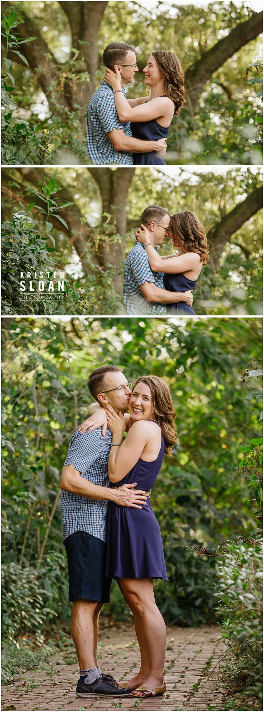 Red Tandem Bicycle Engagement Couples Photos St Pete FL