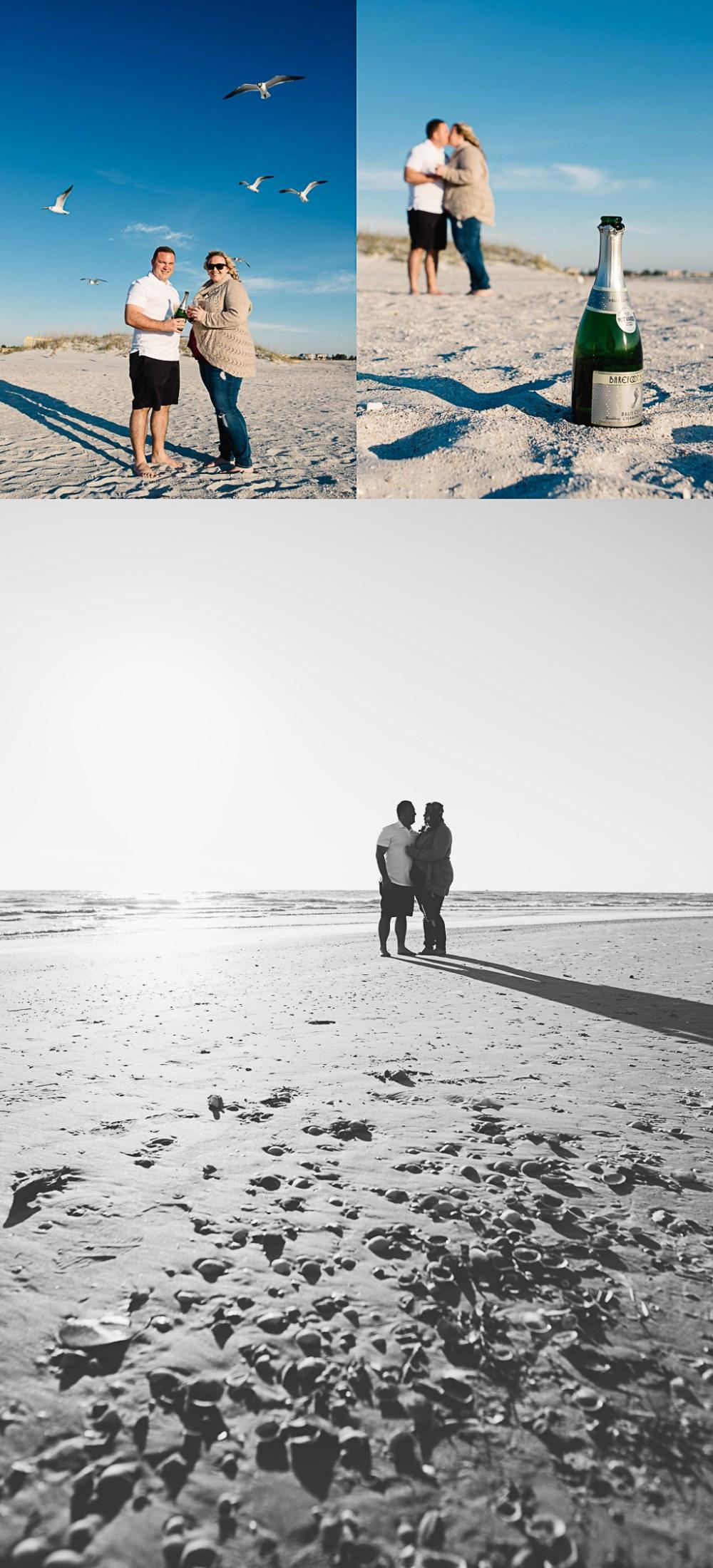 Surprise Beach Wedding Proposal | St Pete FL Wedding, Treasure Island Florida Wedding Photographer | St Pete Beach Florida Wedding Photographer Kristen Sloan