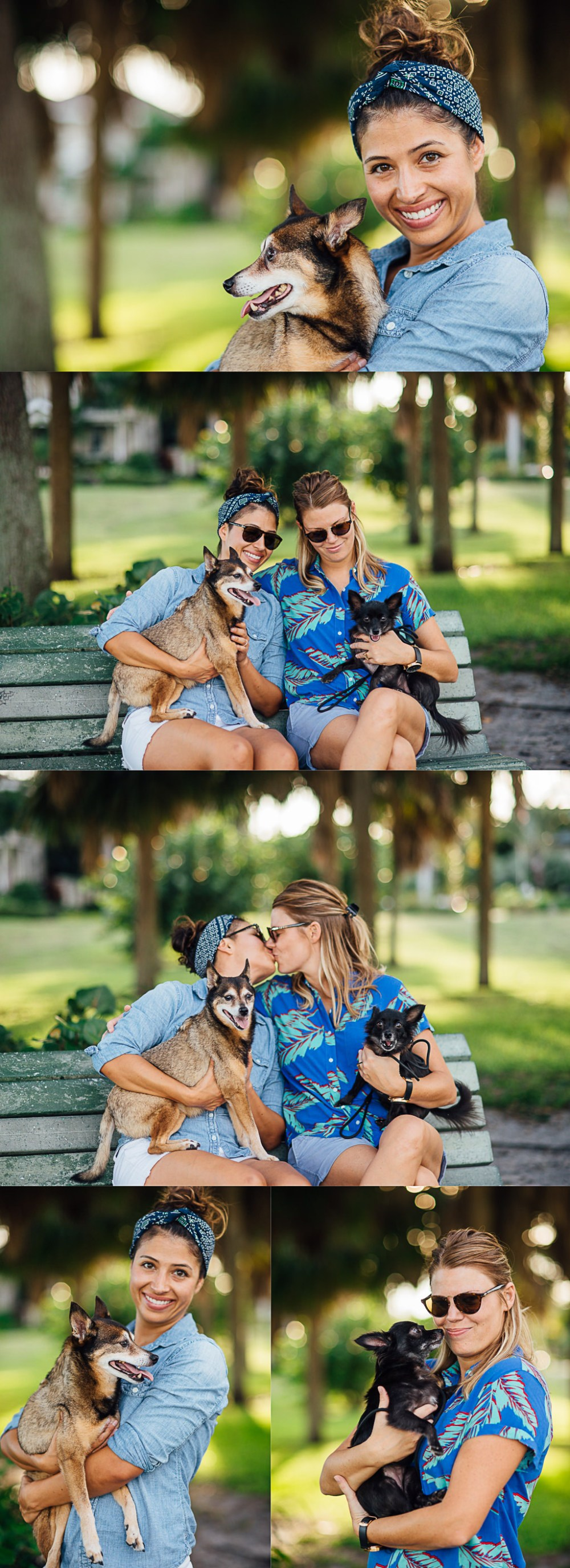 LGBT Couples Portraits with Pets in Saint Petersburg Florida at Lassi