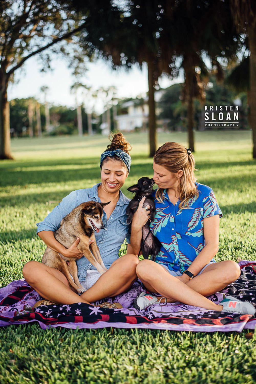 Lassing Park St Pete Florida Couples Pet Portraits, LGBT Couples Engagement, LoveisLove, St Petersburg Florida Portrait Wedding Photographer, GayLove,