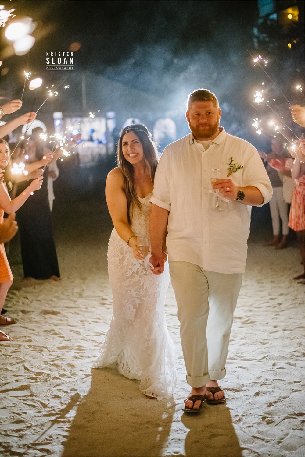 Sirata St Pete Beach Wedding Sparkler Exit