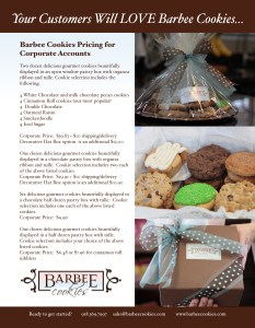 barber cookies corporate one sheet advertising marketing graphic design