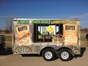 yard sheriff trailer vehicle wrap vinyl graphics advertising marketing graphic design