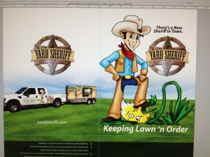 yard sheriff marketing folder full color graphic design presentation folder