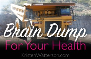 what can you do to keep your brain happy? Brain Dump! KristenWatterson.com -- keeping brains happy and creative for over 50 years (LOL JK)