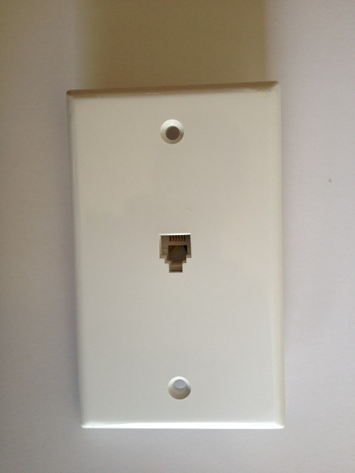 small resolution of once removed from the wall you ll see which twisted pair of copper wire are connected to the jack of the wall plate there are two standards of wiring
