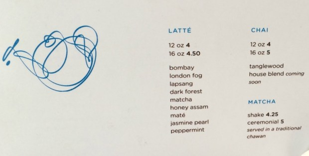 Teabar logo and menu