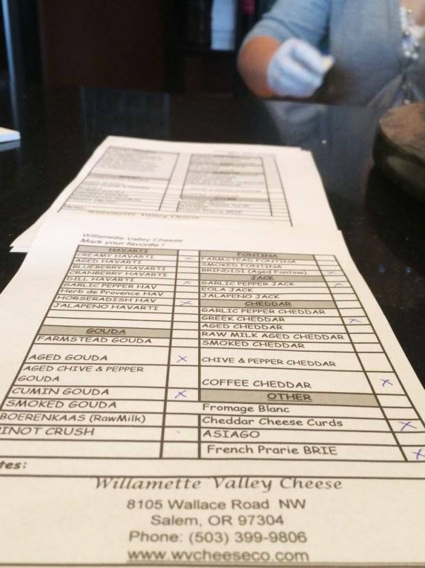 Willamette cheese list