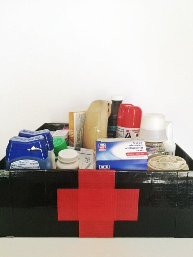 Duct tape medicine box