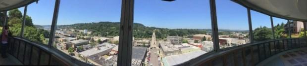 Oregon city elevator panoramic