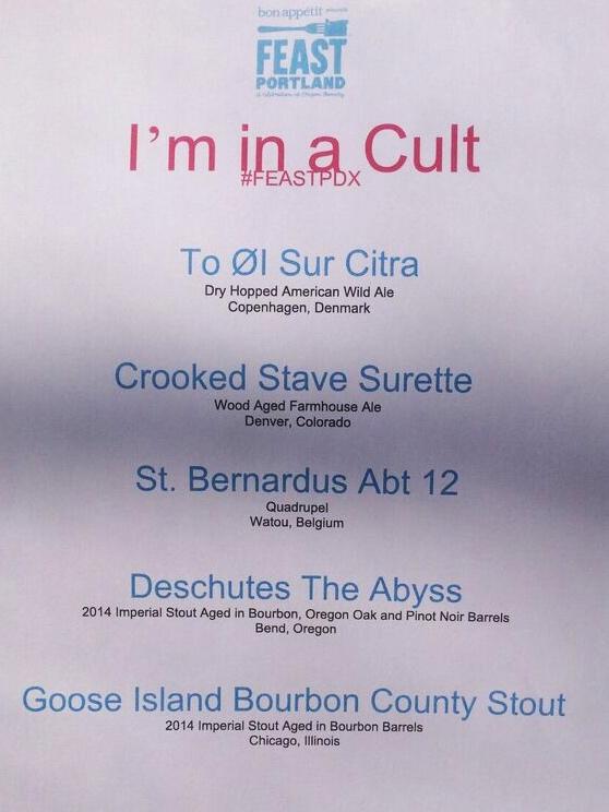 Drink tank cult menu