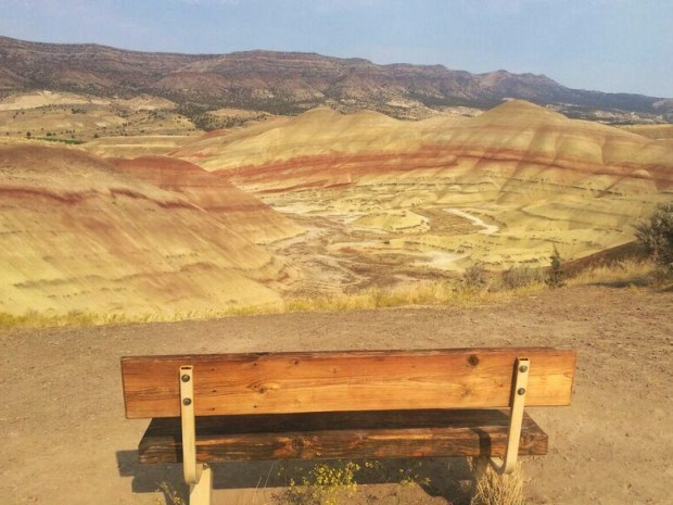 Painted Hills best seat in the house