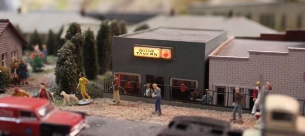 Model railroad tavern