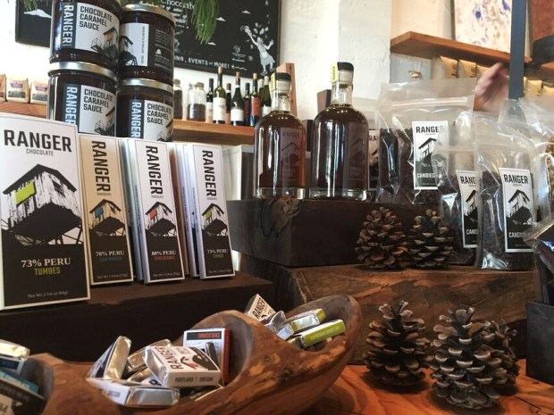 Cop & Bar chocolate display