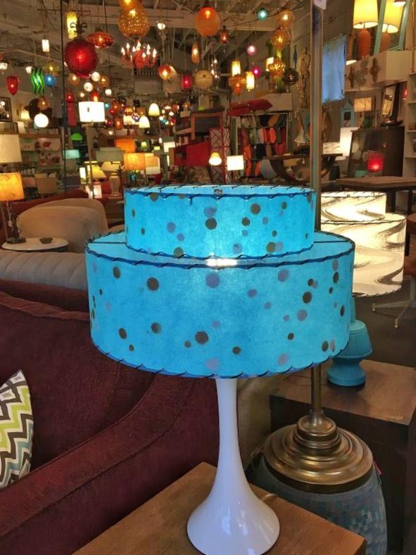Lounge Lizard blue lamps