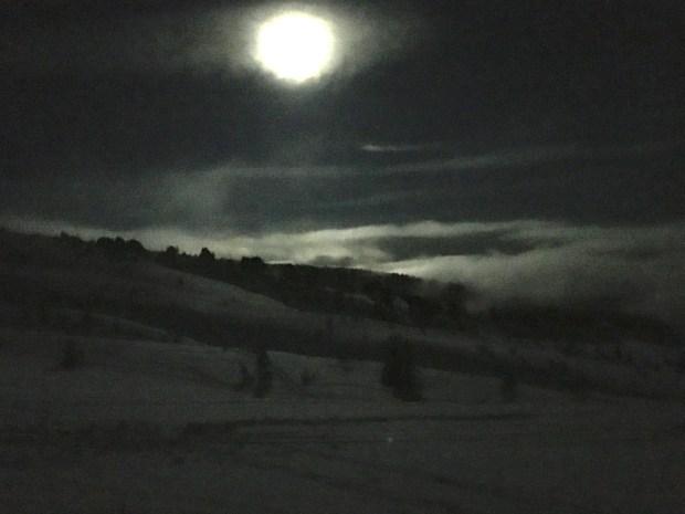 moonlight snowshoe ridge