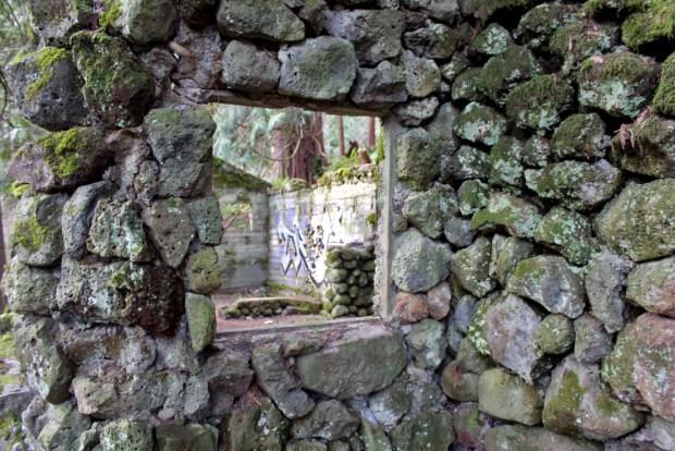 skamania stone house window view