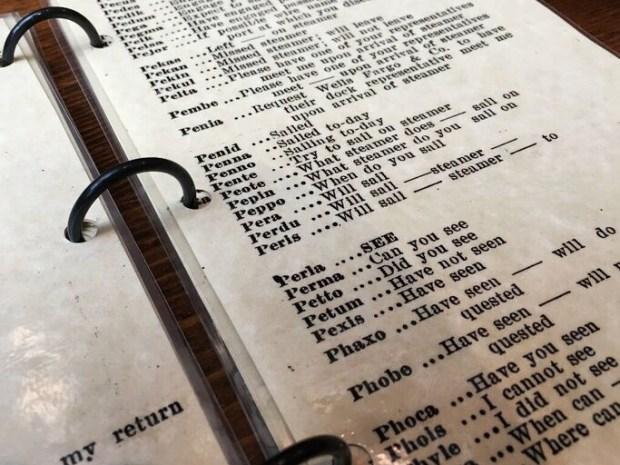 Wells Fargo museum telegraph code