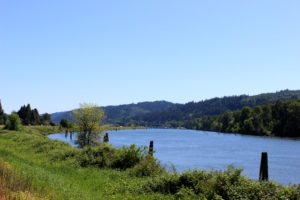 Sauvie island bike ride river view