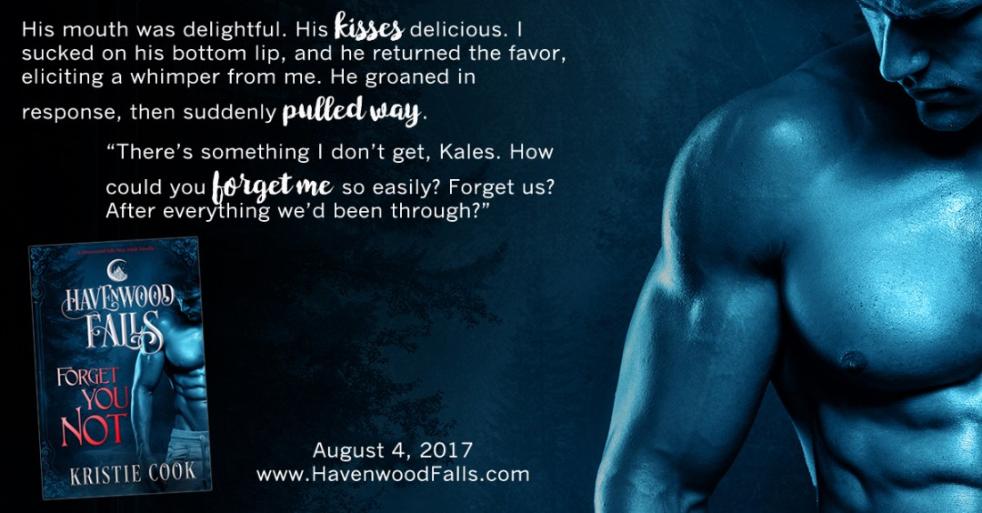 Teaser graphic for Kristie Cook's new release Forget You Not
