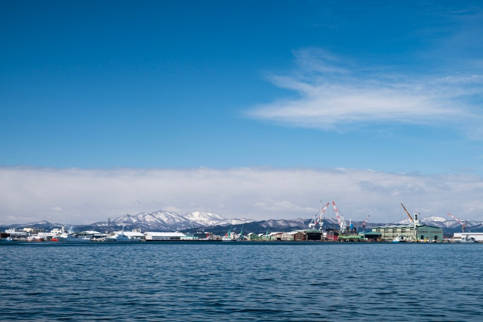 Mountain view from Hakodate harbour
