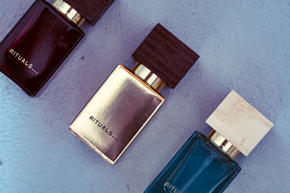 Rituals perfume (from left to right): Elixir d'Orient, Victoire d'Ambre, Oasis de Fleurs