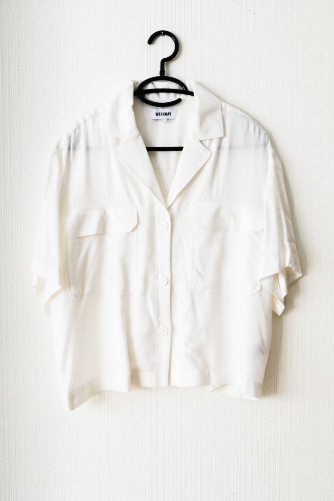 White blouse by WEEKDAY