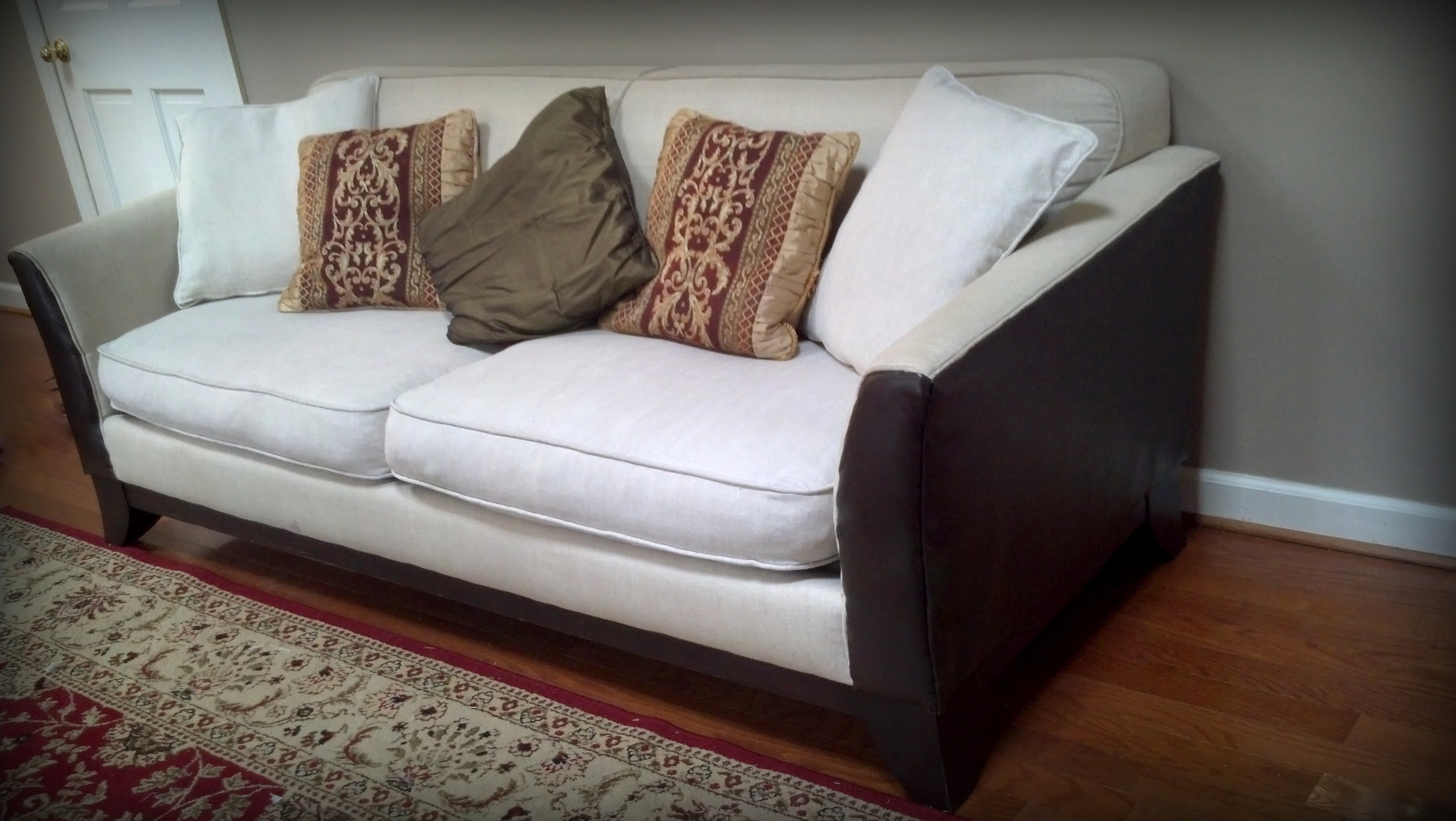 pottery barn basic sofa craigslist how do you repair a torn leather free couch and loveseat what  kristi hughes
