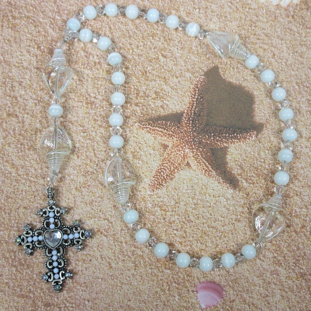 White Shells Prayer Beads