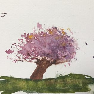 My first attempt at the cherry tree.