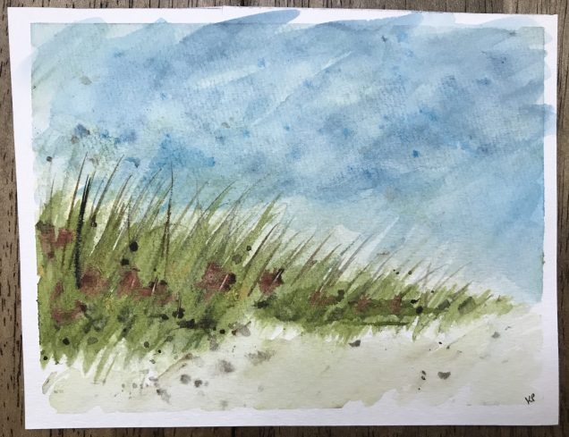 The grass was fun to paint.