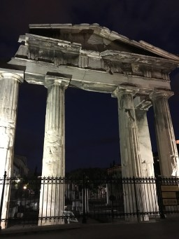 Roman Agora at night.