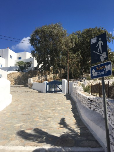 Heading up the steps to chora!