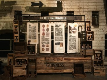 A display in the history of Guinness