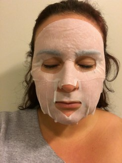 Letting the mask sit for 20 minutes